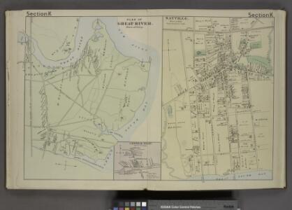 Plan of Great River. [Township]; Central Islip [Village]; Sayville. [Village];