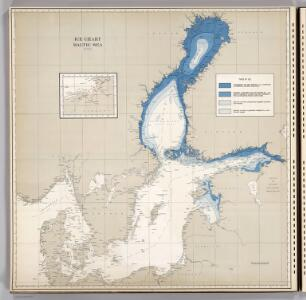 Ice Chart, Baltic Sea, April.