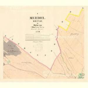 Meedel (Metle) - m1745-1-001 - Kaiserpflichtexemplar der Landkarten des stabilen Katasters