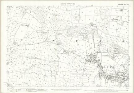 Derbyshire XVI.7 (includes: Eyam; Foolow) - 25 Inch Map