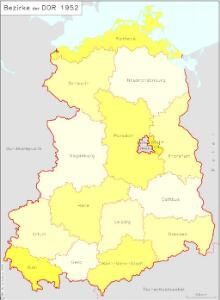 Bezirke der DDR 1952