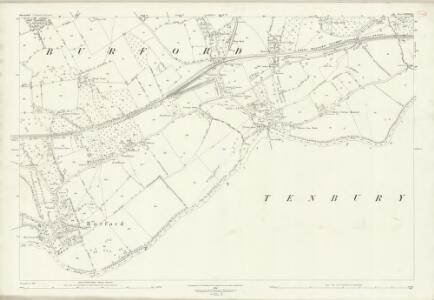 Shropshire LXXXIII.7 (includes: Boraston; Burford; Nash; Tenbury) - 25 Inch Map