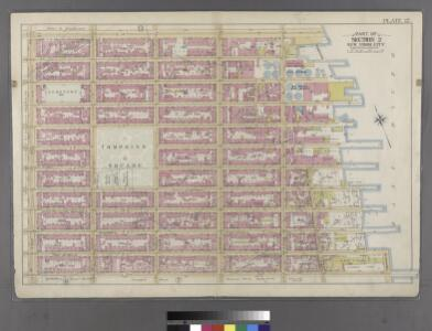Plate 12: Bounded by E. 14th Street, Avenue D (East River, Piers 67-[73]), E. 8th Street, Lewis Street (East River, Piers 64-67), E. 3rd Street and First Avenue.