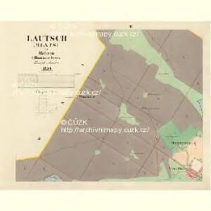 Lautsch (Mlats) - m1827-1-002 - Kaiserpflichtexemplar der Landkarten des stabilen Katasters