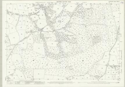 Devon XXXIII.15 (includes: Cruwys Morchard; Templeton; Thelbridge; Witheridge) - 25 Inch Map
