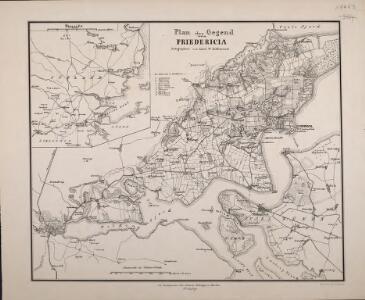 Plan der Gegend von Friedericia
