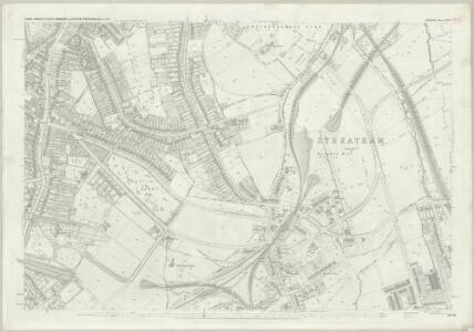 London (First Editions c1850s) LXXXV (includes: Lambeth St Mary; Wandsworth Borough) - 25 Inch Map