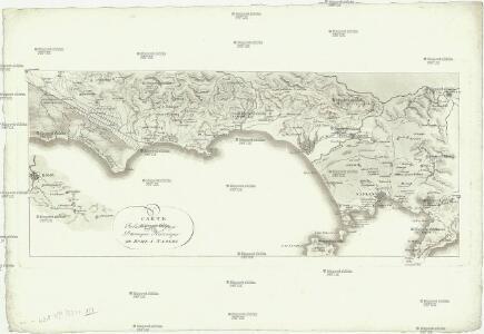 Carte relative au voyage pittoresque historique de Rome a Naples