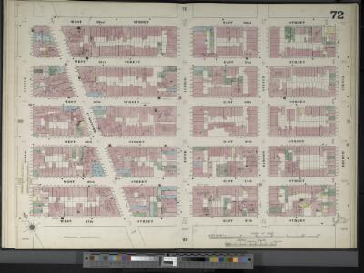 Manhattan, V. 4, Double Page Plate No. 72  [Map bounded by W. 32nd St., E. 32nd St., 4th Ave., E. 27th St., W. 27th St., 6th Ave.]