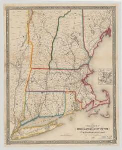 Railroad map of New England & eastern New York : compiled from the most authentic sources