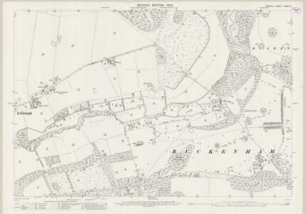 Norfolk LXXXIII.10 (includes: Ickburgh; Lynford; Stanford) - 25 Inch Map