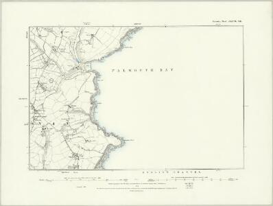 Cornwall LXXVII.NW - OS Six-Inch Map