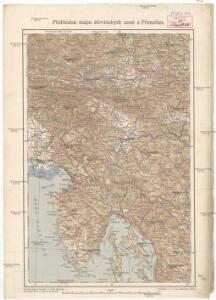 Přehledná mapa slovinských zemí s Přímořím