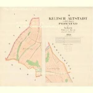 Keltsch Altstadt - m1174-1-001 - Kaiserpflichtexemplar der Landkarten des stabilen Katasters