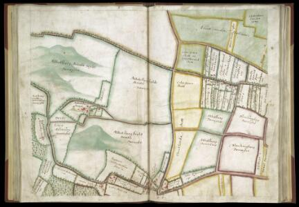 SURVEYS AND PERAMBULATION, WITH PLANS, BY JOHN NORDEN, of the manors of Mincingbury, Abbotsbury and Hoares, in Barley, co. Hertf. made for Sir John Spencer, Lord of the Manors; 1603. f. 29