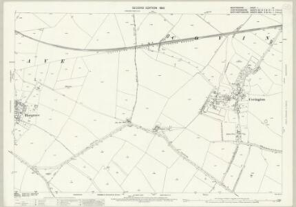 Bedfordshire I.12 (includes: Covington; Dean and Shelton; Hargrave) - 25 Inch Map