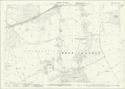 Surrey XXIV.10 (includes: East Clandon; Send; West Clandon) - 25 Inch Map