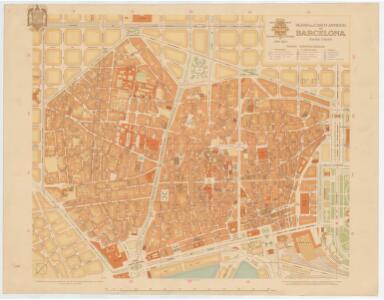 Plano del casco antiguo de Barcelona / Servicio Técnico del Plano de la Ciudad