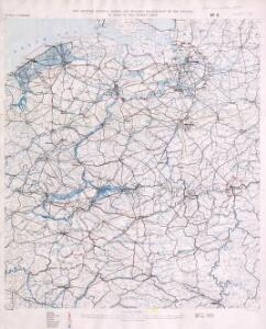 Map showing Railway system and Military organization of the country in rear of the enemy's lines (in France and Belgium)
