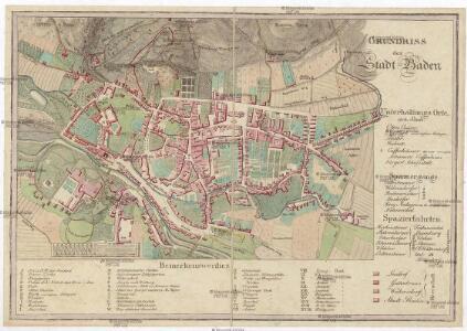 Grundriss der Stadt Baden