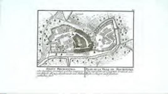 Statt Bischoffzell, oder derselben Grundriss, welcher zeiget, was vor Häuser a.o 1743 abgebrandt und stehen geblieben sind