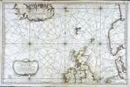Carte réduite de partie de la mer du Nord comprise entre l'Ecosse, le Dannemark, la Norwege et l'Islande