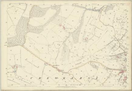 Somerset LXXXVIII.16 (includes: Crewkerne; Hinton St George; Merriott; West Crewkerne) - 25 Inch Map
