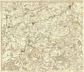 Le Comté de Namur, Partie de l'Evesché de Liege, du Luxembourg, &c.