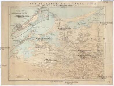 Specialkarte des Kriegsschauplatzes von Alexandria bis Tanta
