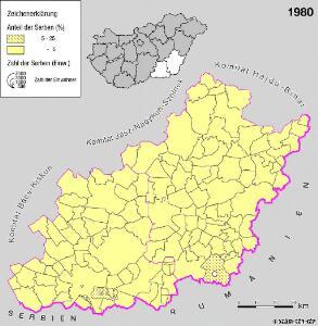 Serben in der Südlichen Tiefebene 1980