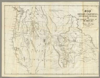 Map of Oregon, California, New Mexico, N.W. Texas & ... Ne-Bras-Ka.