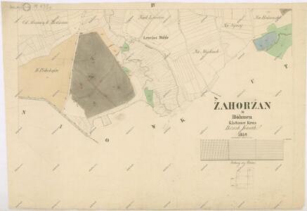 Katastrální mapa obce Zahořany
