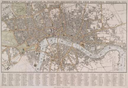 TEGG'S NEW PLAN OF LONDON, &c. WITH 360 REFERENCES TO THE PRINCIPAL STREETS &c.