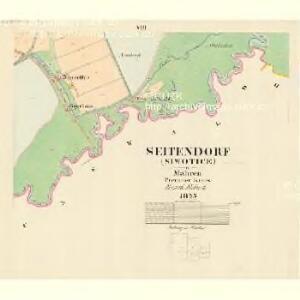 Seitendorf (Siwotice) - m0704-1-008 - Kaiserpflichtexemplar der Landkarten des stabilen Katasters