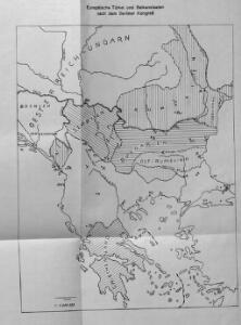 Karten zum russisch-türkischen Krieg 1877-1878. Europäische Türkei und Balkanstaaten nach dem Berliner Kongress