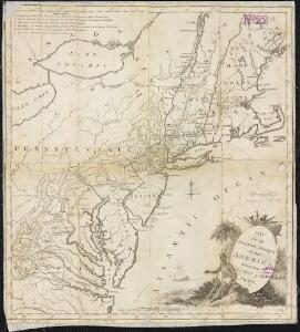 Map of the interior travels through America, delineating the march of the army