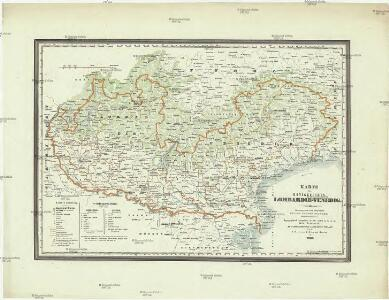 Karte des Königreiches Lombardie-Venedig