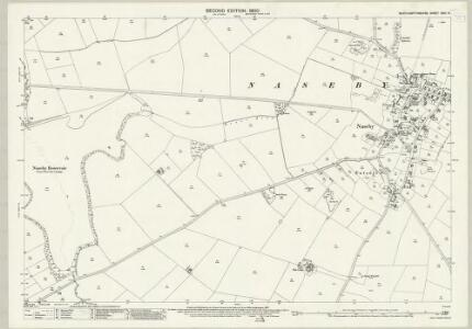Northamptonshire XXIII.14 (includes: Cold Ashby; Naseby; Thonby) - 25 Inch Map