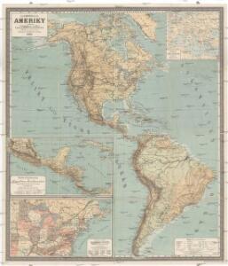 Školní nástěnná mappa [sic] Ameriky