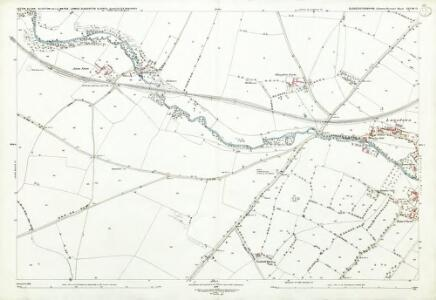 Gloucestershire XXVIII.12 (includes: Aston Blank; Bourton on the Water; Lower Slaughter; Upper Slaughter) - 25 Inch Map