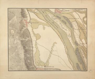 [Plan des Rheins nebst der angraenzenden Gegend von Bodenheim, Laubenheim und Ginsheim]