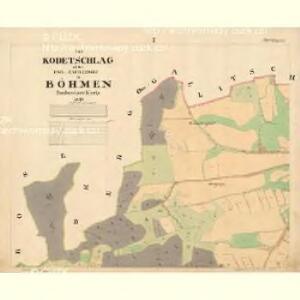 Kodetschlag - c2836-1-001 - Kaiserpflichtexemplar der Landkarten des stabilen Katasters