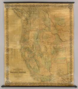 Bancroft's Map Of The Pacific States.