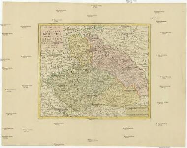 Nieuwe kaart van t koninkryk Bohemen, thertogdom Silesien, markgraafschap Moravien en Lusatien