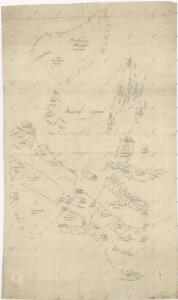 Záměrná mapa pozemků a rybníků dvora Pořejov