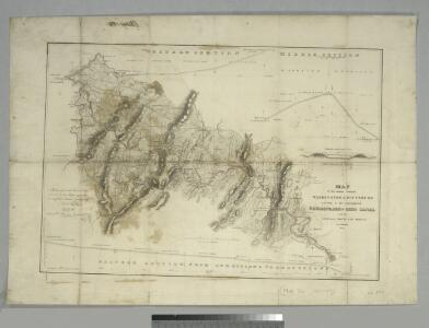 Map of the country between Washington & Pittsburg refering to the contemplated Chesapeake & Ohio Canal and its general route and profile, October 1826 / reduced from the general map annexed to the report upon the comtemplated canal & drawn, b