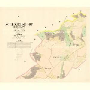 Schlögelsdorf (Schlölow) - m3028-1-002 - Kaiserpflichtexemplar der Landkarten des stabilen Katasters
