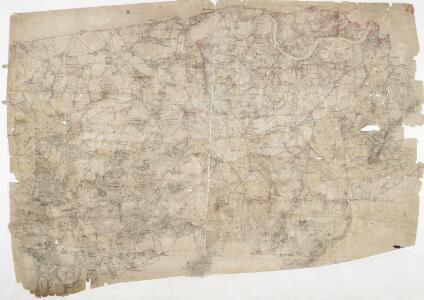 Detail from OSD 127 (Hampton Court), showing Kingston, Richmond and Twickenham