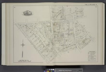 Vol. 2. Plate, I. [Map bound by Flushing Ave., Bushwick Ave., Varet St., Bogart St., Central Ave., Melrose St., Adams St., Broadway; Including Cooke St., White St., Yates Pl., Fayette St., Ellery St., Park Pl., Locust St., Belvidere St., Wall St., Montei