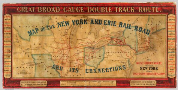 Map of the New York and Erie Rail Road and its connections.